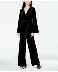 Calvin Klein - Wide-leg Velvet Jumpsuit - Lyst