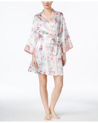Morgan Taylor - Floral Satin Robe, Only At Macy's - Lyst