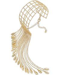 Danielle Nicole - Gold-tone Pecking Order Cuff Bracelet - Lyst