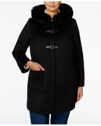 Forecaster - Plus Size Fox-fur-trim Hooded Coat - Lyst