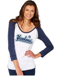 Soft As A Grape - Women's New York Yankees Baseball Raglan T-shirt - Lyst