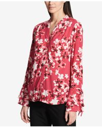 CALVIN KLEIN 205W39NYC - Bell-sleeve Blouse - Lyst