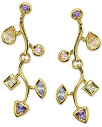 Giani Bernini - Multicolor Cubic Zirconia Vine Drop Earrings In 18k Gold-plate Over Sterling Silver, Created For Macy's - Lyst