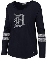 47 Brand - Detroit Tigers Court Side Long Sleeve T-shirt - Lyst