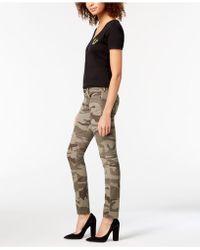 True Religion - Casy Camo-print Skinny Jeans - Lyst