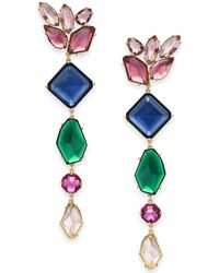 Kate Spade - Gold-tone Multi-crystal Statement Earrings - Lyst