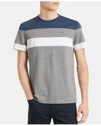 f40568512 Lyst - Calvin Klein Colorblocked Pocket T-shirt in Blue for Men