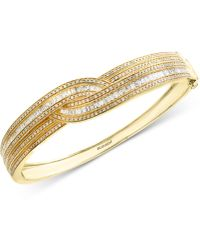 Effy Collection - Diamond Bangle Bracelet (1-3/4 Ct. T.w.) In 14k Gold & White Gold - Lyst