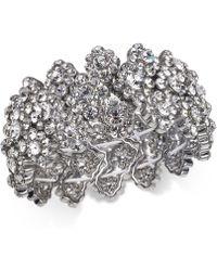 INC International Concepts - I.n.c Silver-tone Crystal Stretch Bracelet, Created For Macy's - Lyst