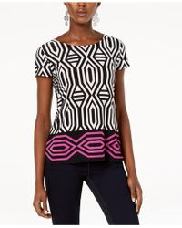 INC International Concepts - I.n.c. Printed Tie-back T-shirt, Created For Macy's - Lyst