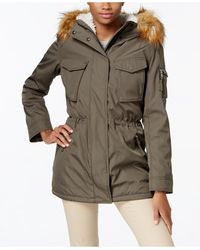 S13/nyc - Faux-fur-lined Hooded Down Parka - Lyst
