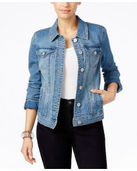 Style & Co. - Stretch Denim Jacket In Disco Wash, Only At Macy's - Lyst