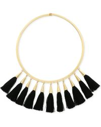 Vince Camuto - Gold-tone Jet Multi-tassel Statement Necklace - Lyst