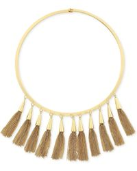 Vince Camuto - Gold-tone Multi-tassel Statement Necklace - Lyst