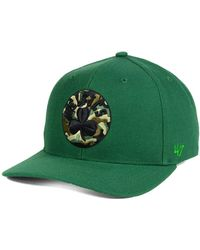 14416251b15 Lyst - 47 Brand Boston Celtics Hwc Calgary Pom Knit Hat in Green for Men