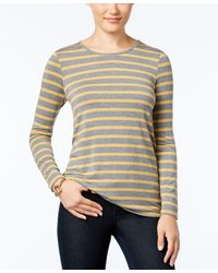 G.H.BASS - Striped Long-sleeve Top - Lyst
