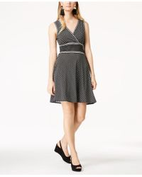 Maison Jules - Polka-dot Fit & Flare Dress, Created For Macy's - Lyst
