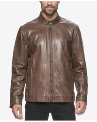 Marc New York - Men's Rhinecliff Leather Racer Coat - Lyst