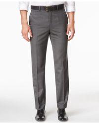 Lauren by Ralph Lauren - Men's Microfiber Classic-fit Gray Herringbone Dress Pants - Lyst