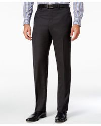 Lauren by Ralph Lauren - Men's Classic-fit Charcoal Herringbone Wool Dress Pants - Lyst