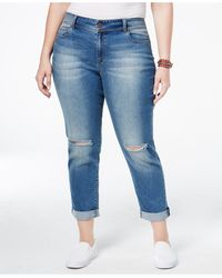 American Rag - Plus Size Kimber Wash Ripped Girlfriend Jeans - Lyst