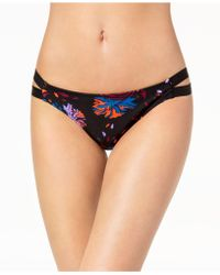 Volcom - Juniors' Printed Strappy Hipster Bikini Bottoms - Lyst