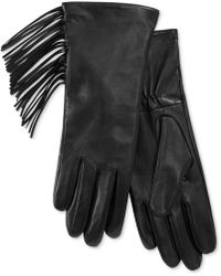 Charter Club - Side Fringe Leather Tech Gloves, Only At Macy's - Lyst