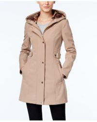 Via Spiga - Petite Hooded Softshell Raincoat - Lyst