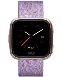 Fitbit - Versatm Special Edition Lavender Woven Band Smart Watch 39mm - Lyst