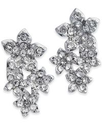 INC International Concepts - I.n.c. Silver-tone Crystal Cluster Flower Drop Earrings, Created For Macy's - Lyst