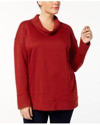 Style & Co. | Plus Size Funnel-neck Sweatshirt | Lyst