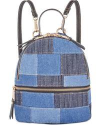 76eb998528bbc5 Steve Madden - Kelce Denim Patch Mini Backpack - Lyst