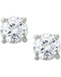 Macy's - Certified Diamond Stud Earrings (1-1/2 Ct. T.w.) In Platinum - Lyst