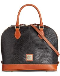 Dooney & Bourke - Lizard Zip Zip Satchel - Lyst