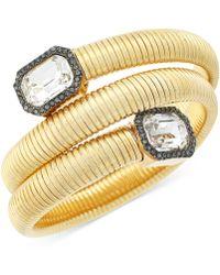 Vince Camuto - Gold-tone Stone Coil Bracelet - Lyst