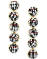 INC International Concepts - I.n.c. Gold-tone Fabric Ball Linear Drop Earrings, Created For Macy's - Lyst