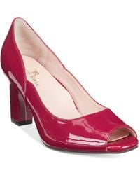 Taryn Rose - Tr Francis Block-heel Court Shoes - Lyst