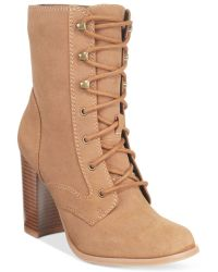 Mojo Moxy - Dolce By Firebird Lace-up Booties - Lyst