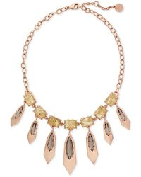Vince Camuto - Crystal Charm Necklace - Lyst
