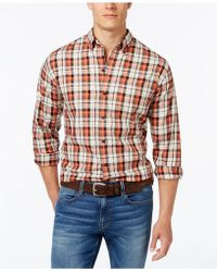 Cutter & Buck - Men's Upland Plaid Long-sleeve Shirt - Lyst