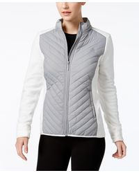 G.H.BASS - Quilted Vest With Suede Trim - Lyst