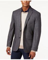 Vince Camuto - Men's Slim Modern Fit Grey Windowpane Sport Coat - Lyst