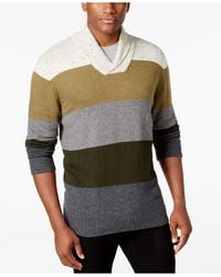 Tricots St Raphael - Men's Shawl-collar Striped Sweater - Lyst