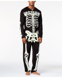American Rag - Skeleton Faux-Fleece Costume - Lyst