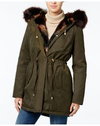 Wildflower - Hooded Faux-fur-trim Parka, Only At Macy's - Lyst