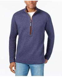 Tommy Bahama - Men's Cobble Hill Quilted Reversible Half-zip Sweatshirt - Lyst