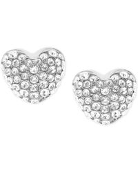 Michael Kors | Pavé Heart Stud Earrings | Lyst