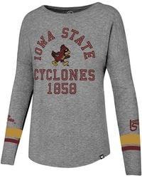 47 Brand - Iowa State Cyclones Courtside Long Sleeve T-shirt - Lyst