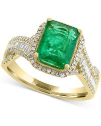 Effy Collection | Emerald (2-1/5 Ct. T.w.) And Diamond (1/2 Ct. T.w.) Ring In 14k Gold | Lyst