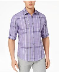 Alfani - Men's Plaid Shirt - Lyst